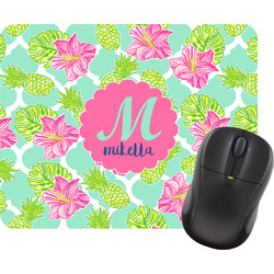 Preppy Hibiscus Mouse Pads (Personalized)