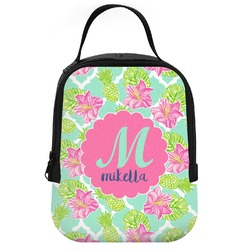 Preppy Hibiscus Neoprene Lunch Tote (Personalized)