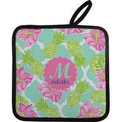 Preppy Hibiscus Pot Holder (Personalized)