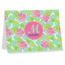 Preppy Hibiscus Note cards (Personalized)