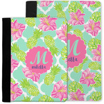 Preppy Hibiscus Notebook Padfolio w/ Name and Initial