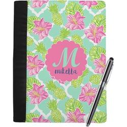 Preppy Hibiscus Notebook Padfolio (Personalized)