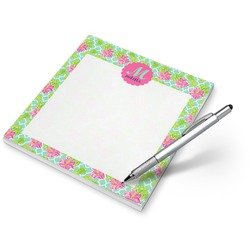 Preppy Hibiscus Notepad (Personalized)