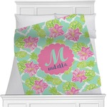 Preppy Hibiscus Minky Blanket (Personalized)