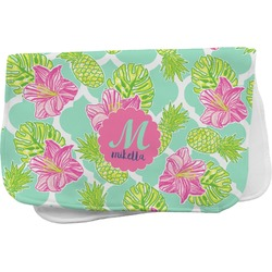 Preppy Hibiscus Burp Cloth (Personalized)
