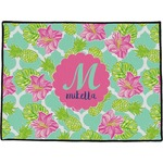 Preppy Hibiscus Door Mat (Personalized)