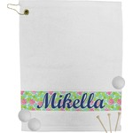 Preppy Hibiscus Golf Towel (Personalized)