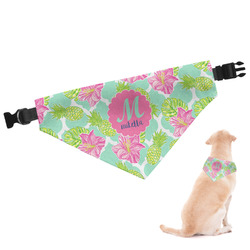 Preppy Hibiscus Dog Bandana (Personalized)