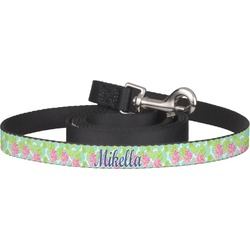 Preppy Hibiscus Pet / Dog Leash (Personalized)