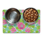 Preppy Hibiscus Dog Food Mat (Personalized)