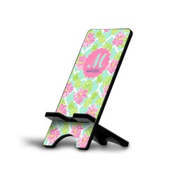 Preppy Hibiscus Phone Stand (Personalized)