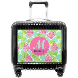 Preppy Hibiscus Pilot / Flight Suitcase (Personalized)