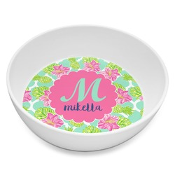 Preppy Hibiscus Melamine Bowl - 8 oz (Personalized)