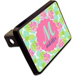 """Preppy Hibiscus Rectangular Trailer Hitch Cover - 2"""" (Personalized)"""