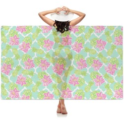 Preppy Hibiscus Sheer Sarong (Personalized)