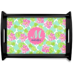 Preppy Hibiscus Wooden Trays (Personalized)