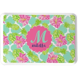 Preppy Hibiscus Serving Tray (Personalized)