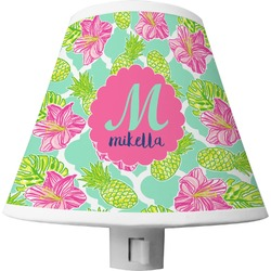 Preppy Hibiscus Shade Night Light (Personalized)
