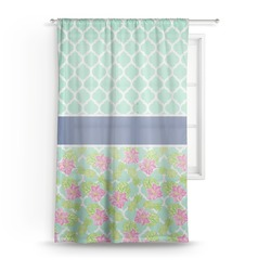 Preppy Hibiscus Sheer Curtains (Personalized)