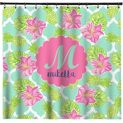 Preppy Hibiscus Shower Curtain (Personalized)