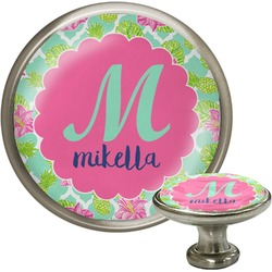 Preppy Hibiscus Cabinet Knobs (Personalized)