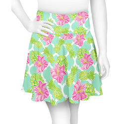 Preppy Hibiscus Skater Skirt (Personalized)