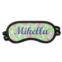 Preppy Hibiscus Sleeping Eye Mask (Personalized)