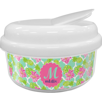 Preppy Hibiscus Snack Container (Personalized)