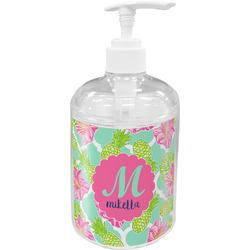 Preppy Hibiscus Soap / Lotion Dispenser (Personalized)
