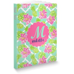 Preppy Hibiscus Softbound Notebook (Personalized)