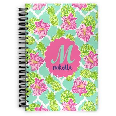 Preppy Hibiscus Spiral Notebook (Personalized)