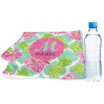 Preppy Hibiscus Sports & Fitness Towel (Personalized)