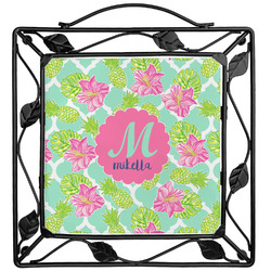 Preppy Hibiscus Trivet (Personalized)