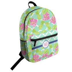 Preppy Hibiscus Student Backpack (Personalized)
