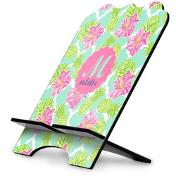 Preppy Hibiscus Stylized Tablet Stand (Personalized)