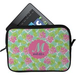 Preppy Hibiscus Tablet Case / Sleeve (Personalized)