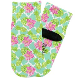 Preppy Hibiscus Toddler Ankle Socks (Personalized)