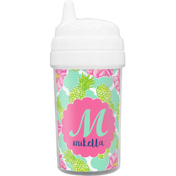Preppy Hibiscus Sippy Cup (Personalized)