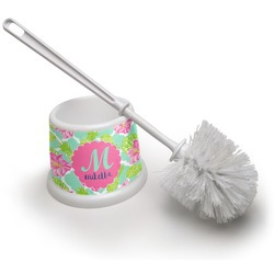 Preppy Hibiscus Toilet Brush (Personalized)