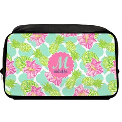 Preppy Hibiscus Toiletry Bag / Dopp Kit (Personalized)