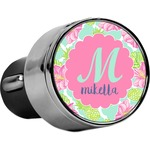 Preppy Hibiscus USB Car Charger (Personalized)