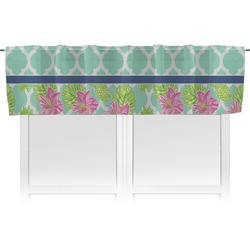 Preppy Hibiscus Valance (Personalized)