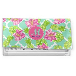 Preppy Hibiscus Vinyl Checkbook Cover (Personalized)