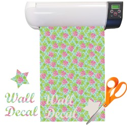 Preppy Hibiscus Vinyl Sheet (Re-position-able)