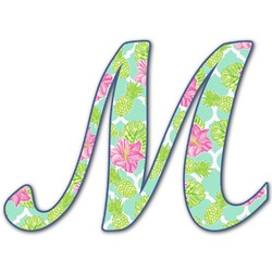 Preppy Hibiscus Letter Decal - Custom Sizes (Personalized)
