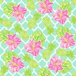 Preppy Hibiscus Wallpaper & Surface Covering