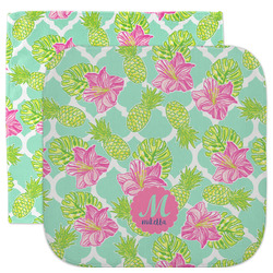 Preppy Hibiscus Facecloth / Wash Cloth (Personalized)