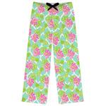Preppy Hibiscus Womens Pajama Pants (Personalized)