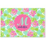 Preppy Hibiscus Woven Mat (Personalized)