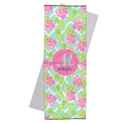 Preppy Hibiscus Yoga Mat Towel (Personalized)
